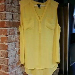 89a2e98efa83a1 Torrid Yellow Blouse